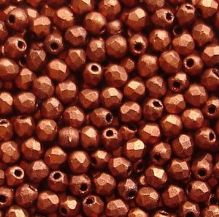 2.5mm Fire Polished, Matt Metallic Dark Copper - 100